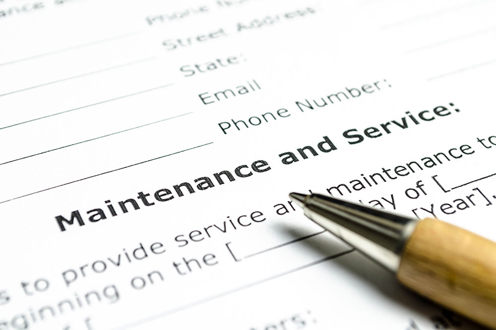 maintenance contracts for restaurant equipment